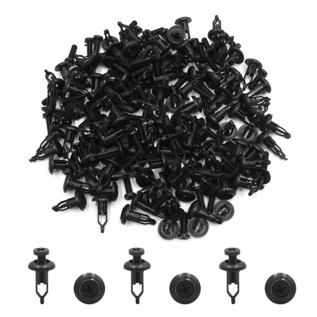 100 Pcs Plastic Car Bumper Fender Push Clip Rivets Retainer Fastener for Toyota - image 2 of 2