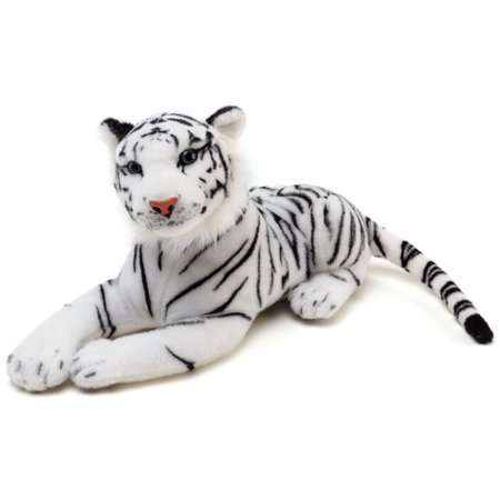 Saphed the White Tiger | 2 ft Long (Paw to End of Tail) Stuffed Animal Plush | By Tiger Tale Toys