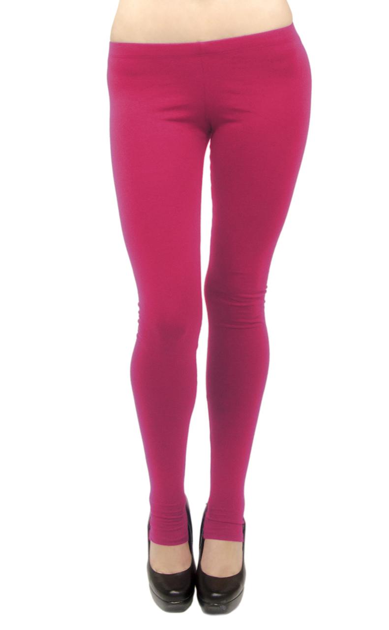 Vivian's Fashions Long Leggings - Cotton/Stirrup, Misses Size (Lime, 2X)