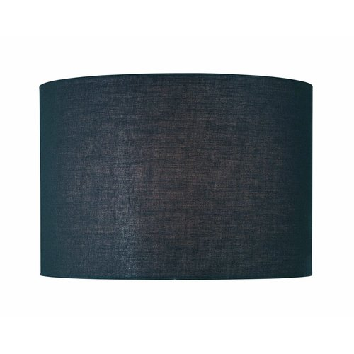 "Lite Source CH1152-16 11"" Height Large Black Drum Shade"