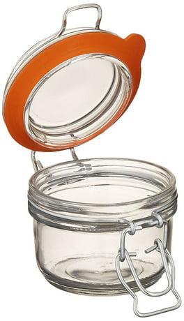 Anchor Hocking Hermes Clamp Top Mini Glass Storage Jar 5 4 Oz