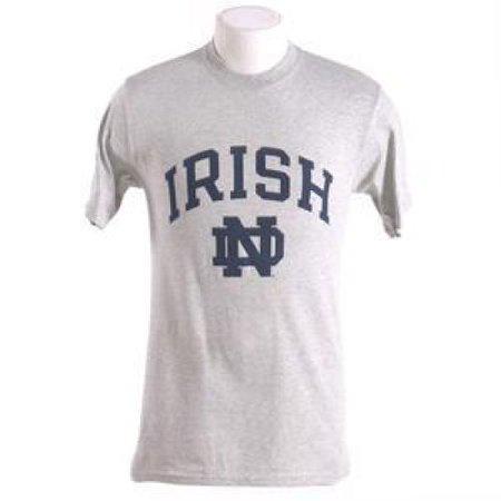 Nd Fighting Irish (Notre Dame Fighting Irish Arched Above Nd Logo - T-shirt By Champion - Oxford)