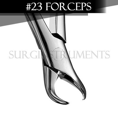 3 Pieces Extracting Forceps Dental Surgical Instruments 23 - Stainless Steel