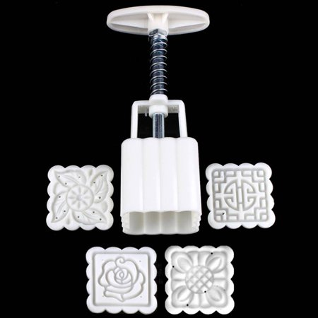 Reusable Square Hand Press Moon Cake Cookie Maker Stamp Mold Mid-autumn Festival DIY Decoration - image 5 of 6