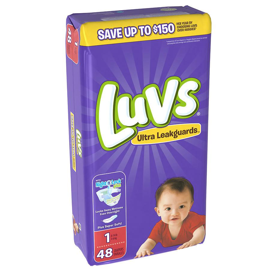 Luvs Ultra Leakguards Diapers Size 1 48.0 ea(pack of 1)