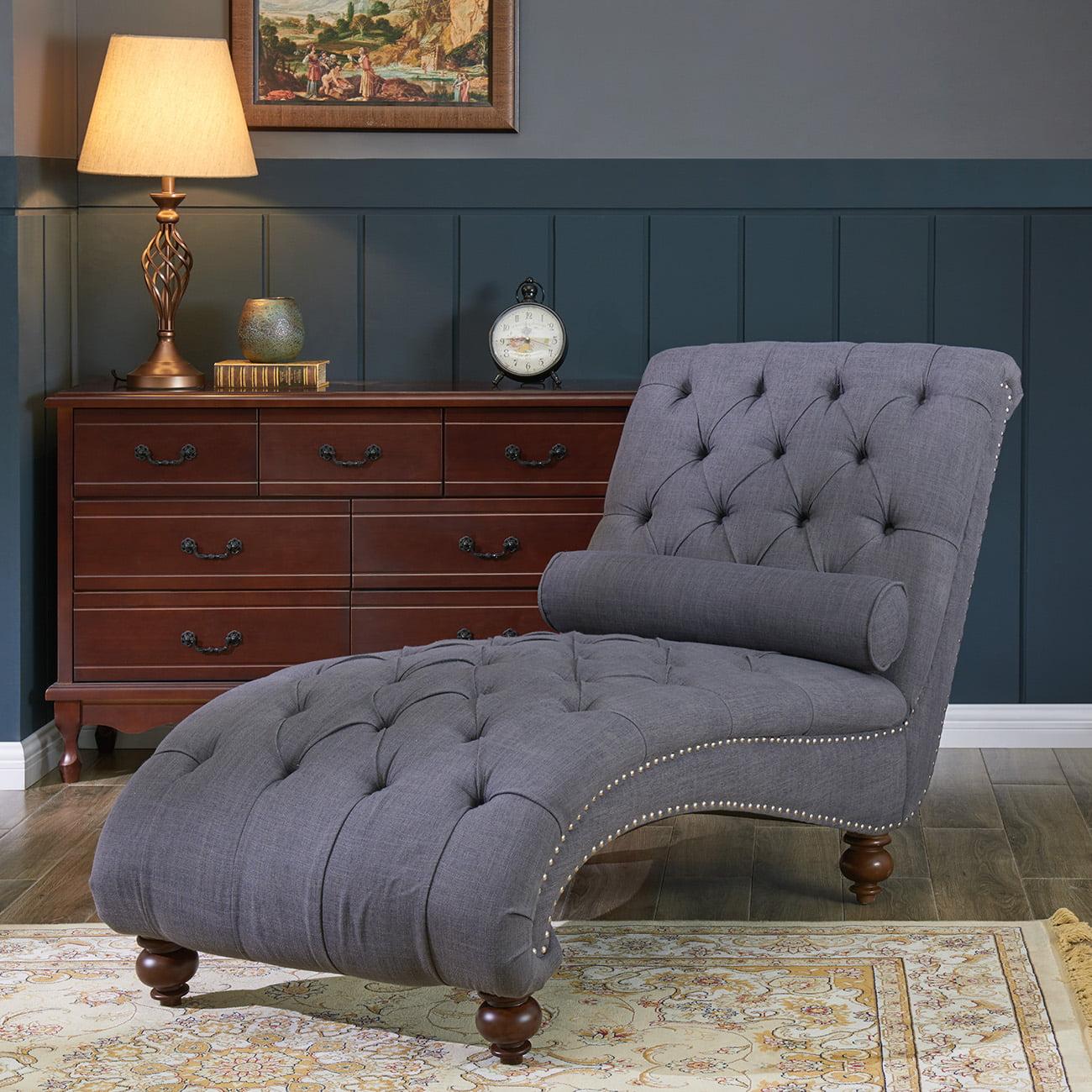 Belleze Teofila Tufted Chaise Lounge Chair Leisure Sofa ...