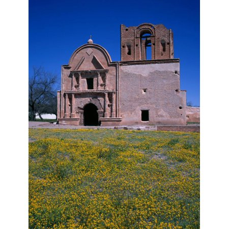 USA, Arizona, Tumacacori National Historical Park, Remains of Mission Church San Jose De Tumacacori Print Wall Art By John Barger ()