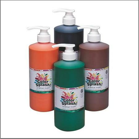 Color Splash! Acrylic Paint 4 Pack 32-oz  Set w/Pump