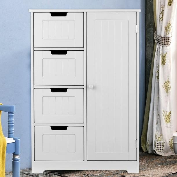 iKayaa Modern Floor Cabinet with Door & Drawers Bedroom Storage