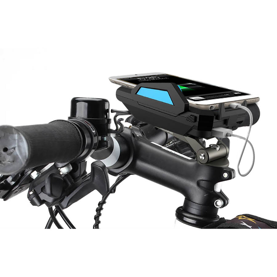 Abco Sport Bike Mount Phone Holder Charger -  6000mah Power Bank -  Charge