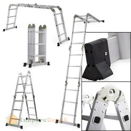 12 5 Folding Step Ladder Multi Purpose Aluminum Scaffold