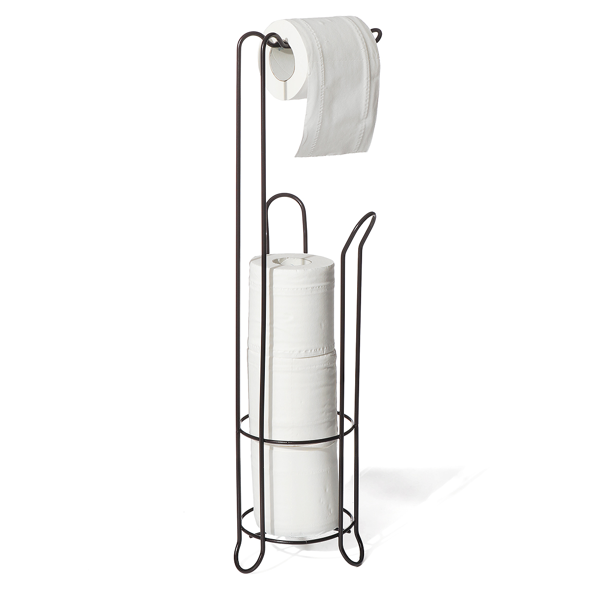 Toilet Paper Holder Stand With Reserve Toilet Paper Storage Toilet Paper Dispenser Free Standing Toilet Paper Holder Bathroom Toilet Roll Holder For Toilet Tissue Chrome Finish Walmart Canada
