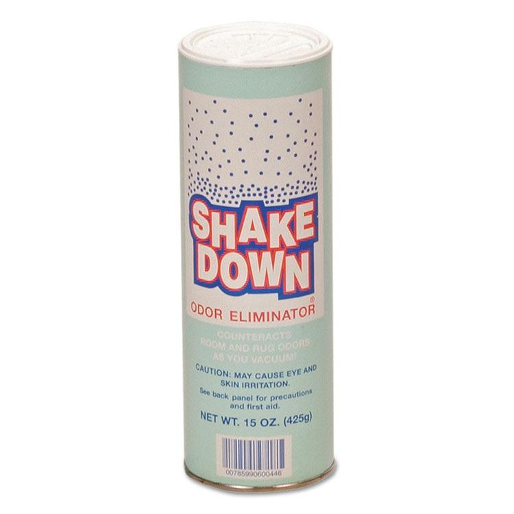 Shakedown Powdered Odor Eliminator, Floral Scent, 15oz Can, 12/carton