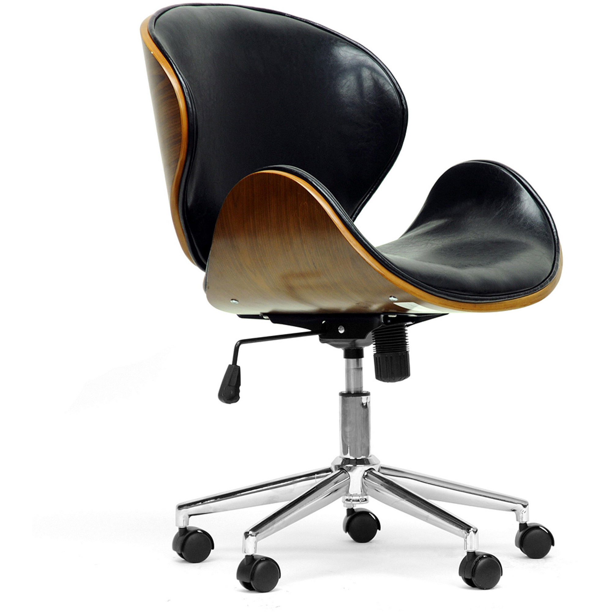 bruce walnut and black modern office chair beautiful office chairs additional