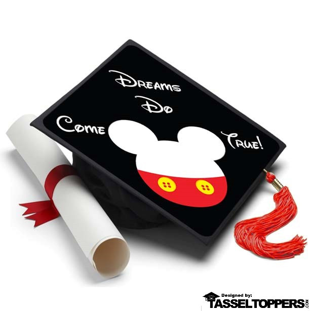 Mickey Mouse Grad Cap Tassel Topper - Graduation Cap Decorations, Grad Hat Decorating Kit