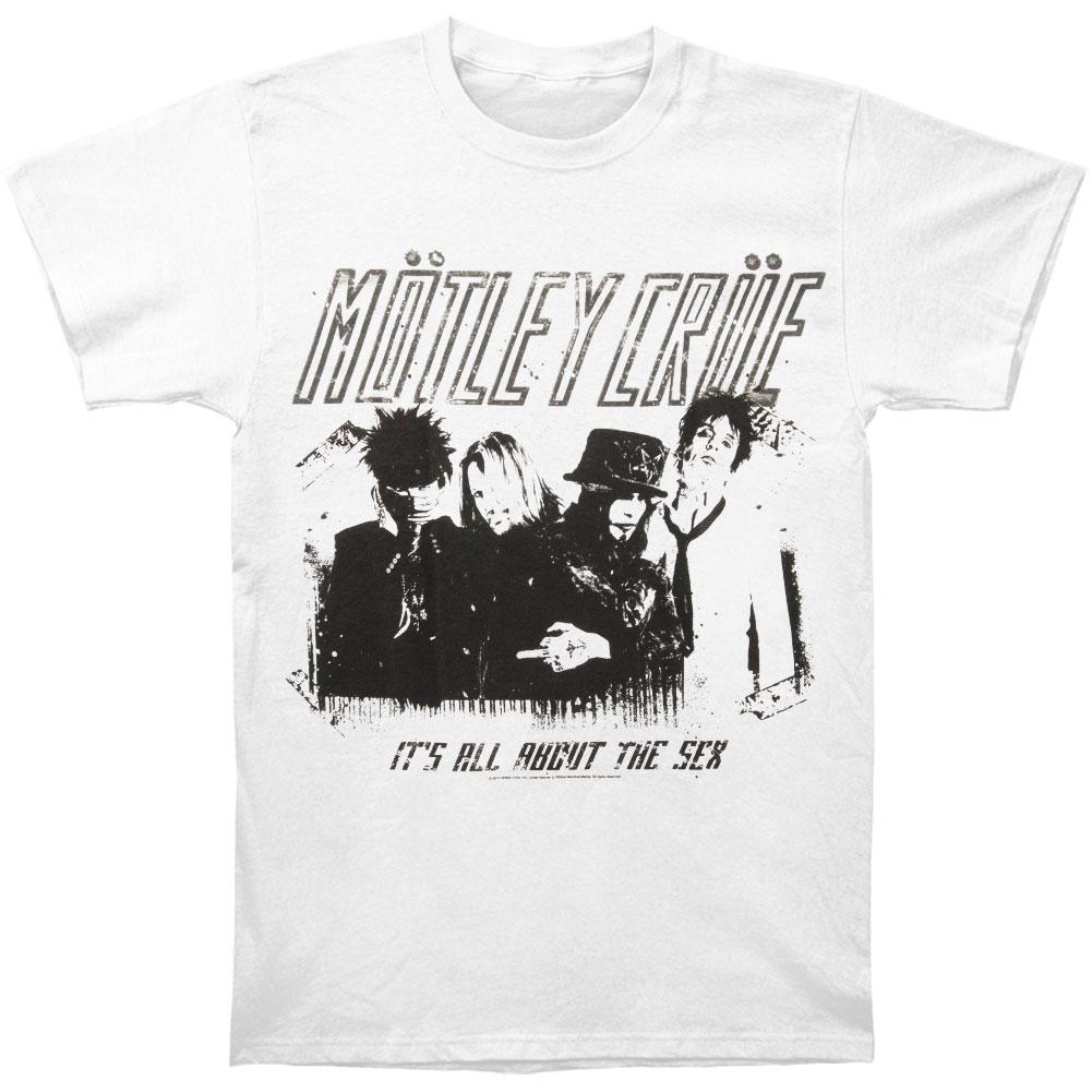 MOTLEY Crue Men's  Stencil T-shirt White