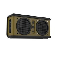 Skullcandy Air Raid Water-resistant Drop Proof Bluetooth Portable Speaker, Olive Green and Black