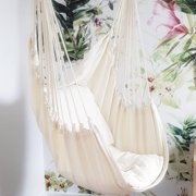 330lbs Hanging Seat Swing Seat Rope Chair Hammock Chair Set Hanging Hardware Kit Hammock Cushion For Home Garden Patio Porch Indoor Outdoor