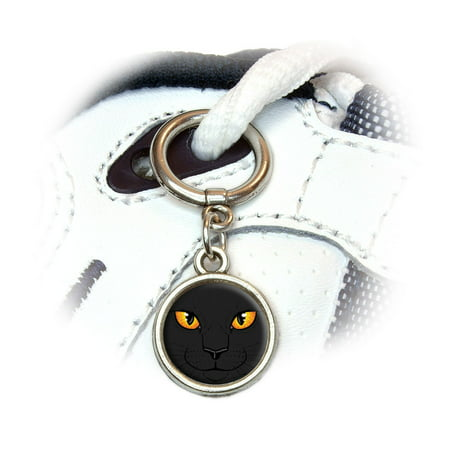 Black Cat Face - Pet Kitty Halloween Shoe Charm - Halloween Cat Face Paint Tutorial