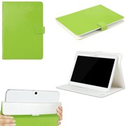 "JAVOedge Green 3D Grid Pattern Universal Book Case for 9-10"" Tablets, iPad Air, Samsung Note, Nook HD 9, Nexus 10 + More"