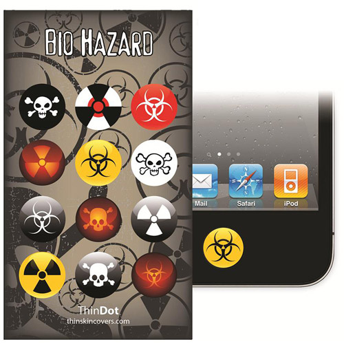 ThinDot Home Button Stickers for iPhone, iPad and iPod touch, Biohazard