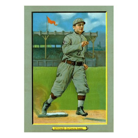 St. Louis, MO, St. Louis Browns, George Stone, Baseball Card Print Wall Art By Lantern Press - Louis Browns Baseball