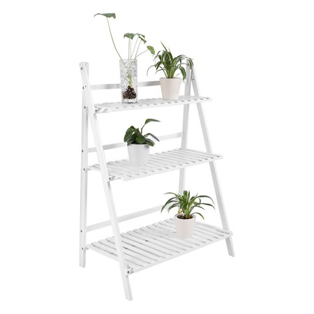 Zerone Multi Layer Foldable Flower Plant Pots Rack Stand Shelf for Balcony Living Room Garden Patio   , Potted Stand Shelf