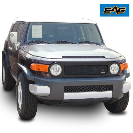 EAG EAG Matte Black Replacement Grille Stainless Steel Mesh with ABS Shell for 07-14 Toyota FJ Cruiser