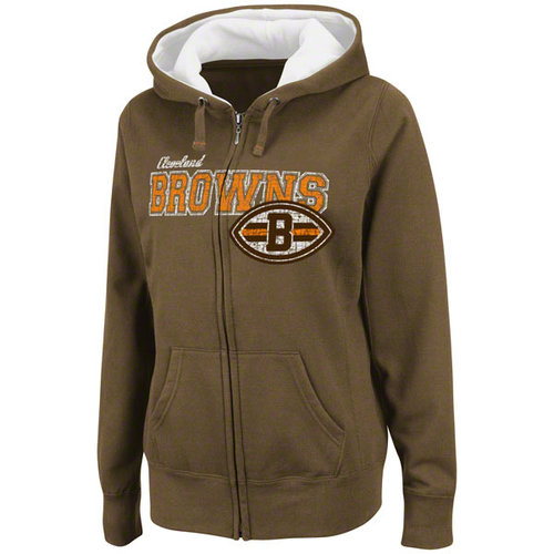 NFL - Cleveland Browns Women's Power and Poise Full-Zip Hooded Sweatshirt