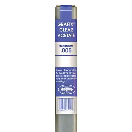 Clear Acetate Rolls (Grafix Clear Acetate - 25