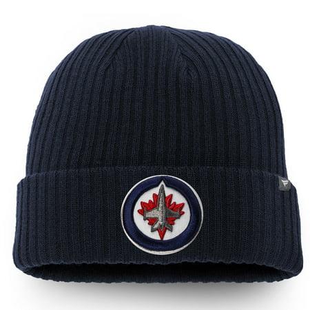 - Winnipeg Jets Fanatics Branded Core Cuffed Knit Hat - Navy - OSFA