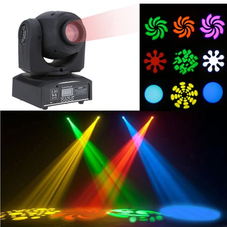 Gobo Pattern - Lixada 50W 9 / 11 Channel High Bright Gobo Pattern Mini Moving Head Light LED Stage Effect Light Support DMX-512 Sound Activation Automatic Run for Party Disco Show