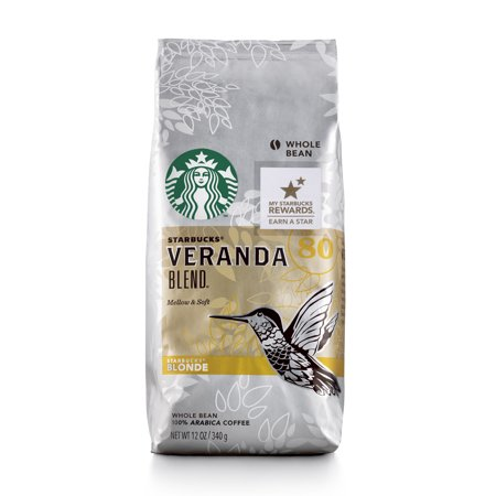 - Starbucks Veranda Blend Light Blonde Roast Whole Bean Coffee, 12-Ounce Bag