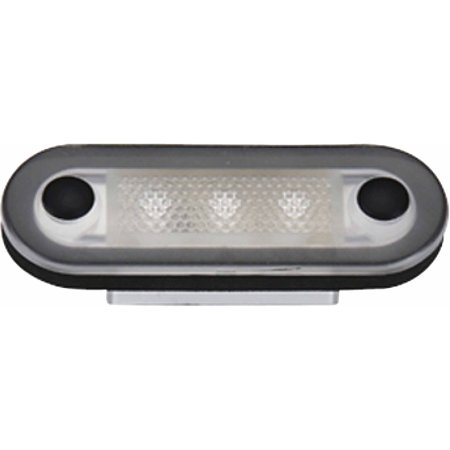 Aqua Signal 3-LED Oval Lights with Stainless Steel Cover White (Aqua Vitrail Light)