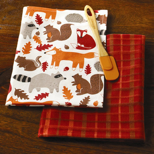TAG Foxy Fall Friends Dishtowel (Set of 2)