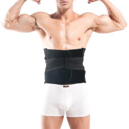 GOGO Abdomen Slimming Trimmer, Elastic Waist Training Corset-Black-XXXL