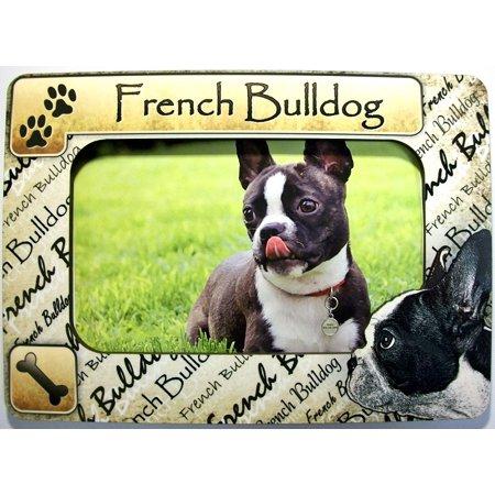 - French Bulldog Dog Breed Picture Frame Fridge Magnet