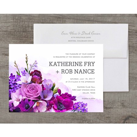Love Blooms Deluxe Wedding Invitation