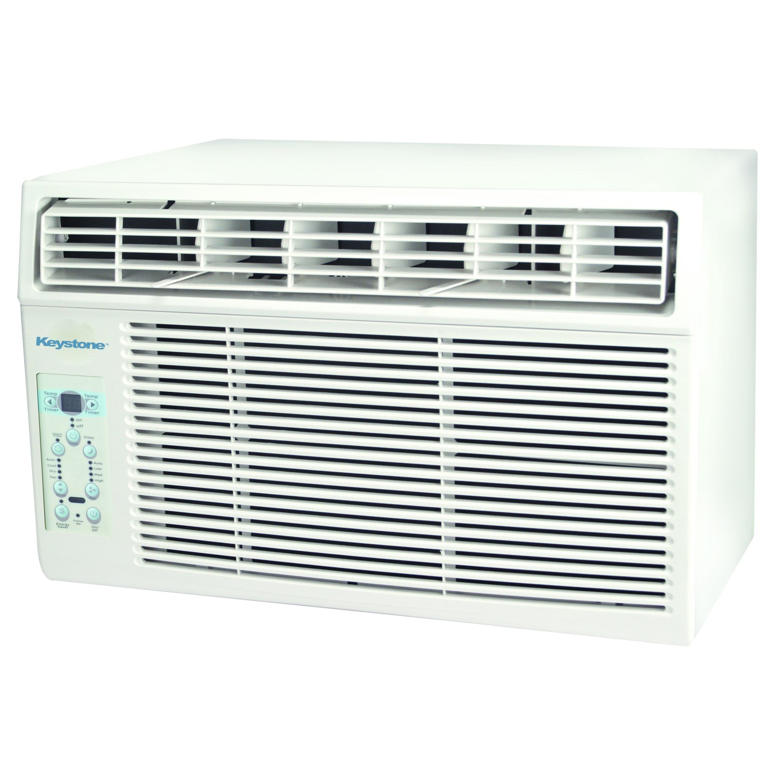 "Keystone 8,000 BTU 115V Window-Mounted Air Conditioner with ""Follow Me"" LCD Remote Control"