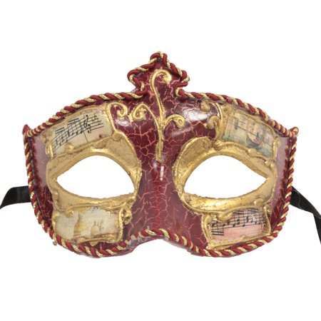 VENETIAN MASK - Painted Ball Masks - MASQUERADE COSTUME (Masquerade Masks On A Stick Wholesale)