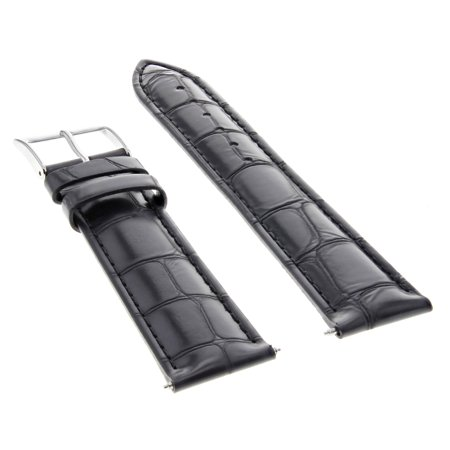 22 Mm Italian - 22MM ITALIAN LEATHER WATCH BAND STRAP FOR GUESS BLACK