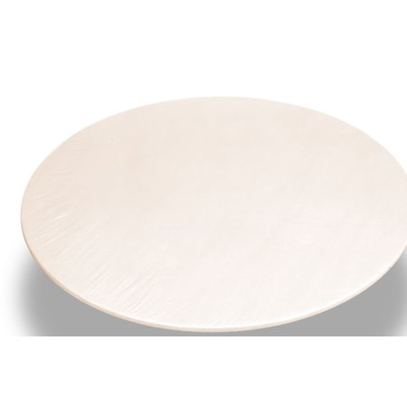 Royal Bath 48 Inch Round Vinyl Fitted Flannel Backed Tablecloth, Color: Ivory (Fitted Tablecloths Round)