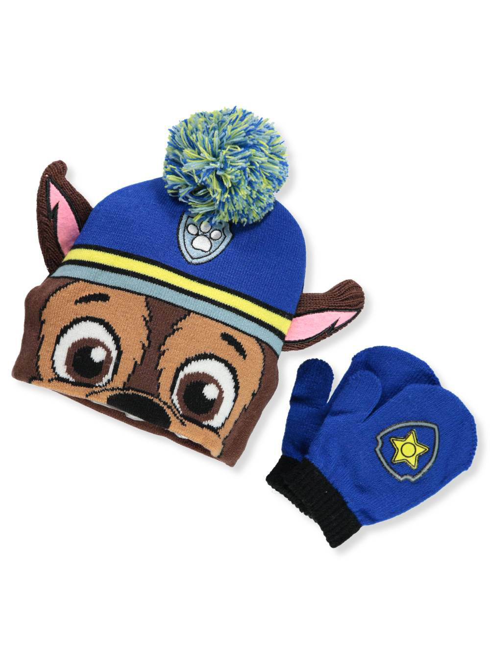Paw Patrol Boys' Beanie & Mittens Set (Toddler One Size)