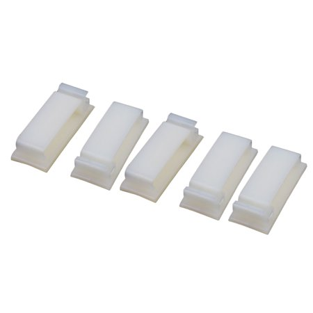 5pcs FC 30 Double Side Self Adhesive Cable Ties Wire Orgnizer Clip Off