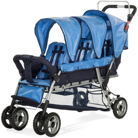 Child Craft Trio 3-Passenger Sport Stroller, Regatta Blue
