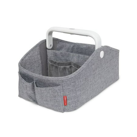 Skip Hop Nursery Style Light Up Diaper Caddy, Heather Grey ()