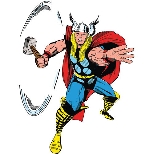 Marvel Classic Thor Peel-and-Stick Giant Wall Decals