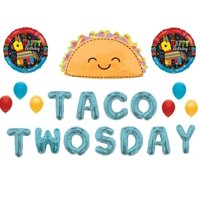 Taco TwosDay 2nd Birthday Party Balloons Decoration Supplies Fiesta Pinata