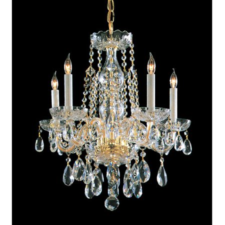 Crystorama Lighting Group 1061-CL-MWP Traditional Crystal 5 Light 18