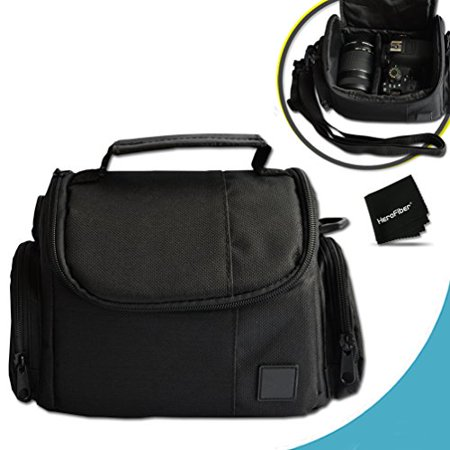 Well Padded Fitted Medium DSLR Camera Case Bag w/ Zippered Pockets and Accessory Compartments for Nikon D750, D7200, D7100, D7000, D810, D810A, D800, D610, D600, 1 V1, D4, D4S, D3, D3X, D3S, D3300, D3
